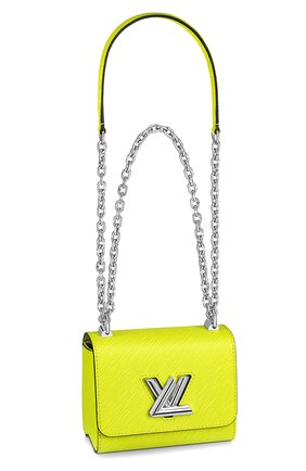 Женская сумка twist mini LOUIS VUITTON желтого цвета, арт. M56119 | Фото 1