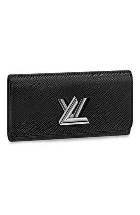 Женские кожаный кошелек twist LOUIS VUITTON черного цвета, арт. M68309 | Фото 1