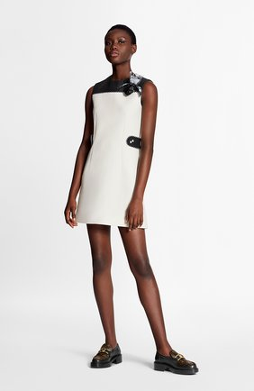 Женское платье из шерсти и шелка LOUIS VUITTON белого цвета, арт. 1A7TK7 | Фото 2