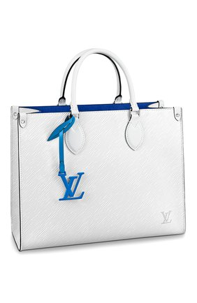 Женская сумка onthego mm LOUIS VUITTON белого цвета, арт. M56081 | Фото 1