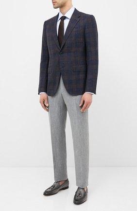 Мужские кожаные лоферы SANTONI серого цвета, арт. MCNC17121LA3SHCHG36 | Фото 2