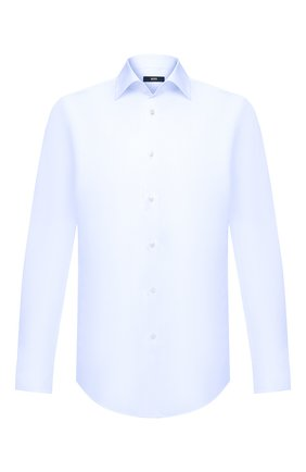 Мужская хлопковая сорочка BOSS синего цвета, арт. 50433148 | Фото 1
