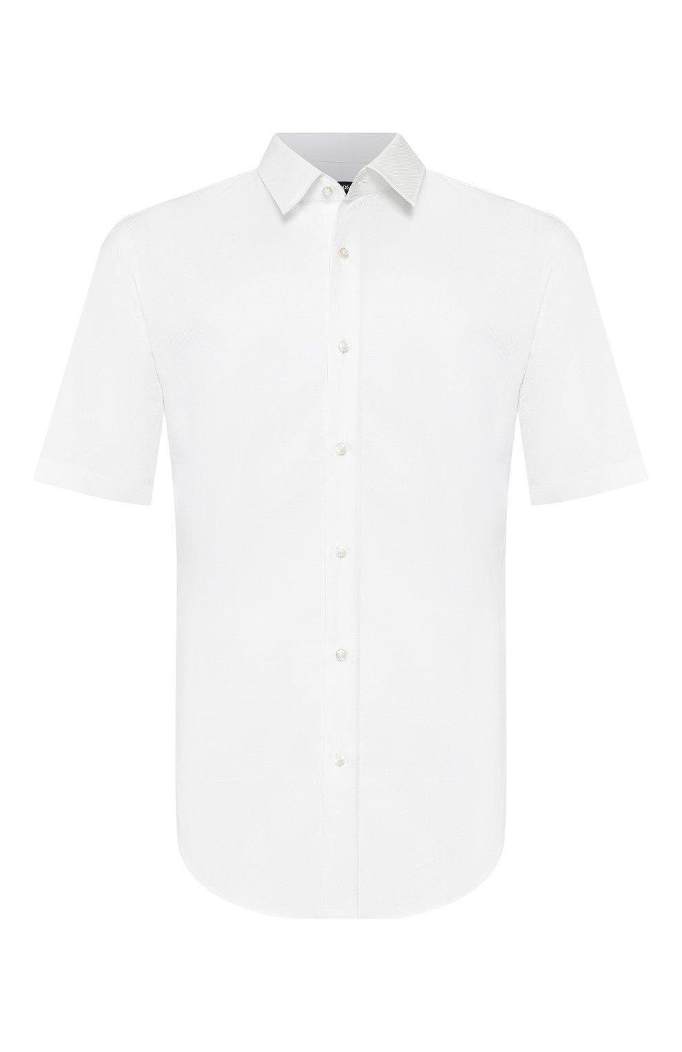 Мужская хлопковая сорочка BOSS белого цвета, арт. 50433275   Фото 1
