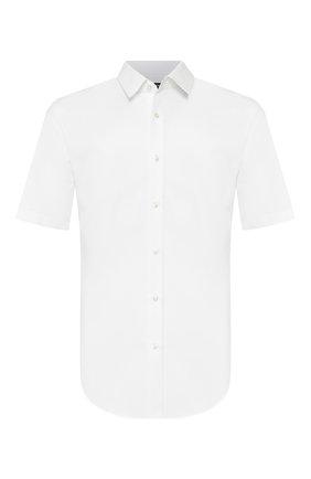 Мужская хлопковая сорочка BOSS белого цвета, арт. 50433275 | Фото 1