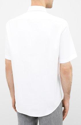 Мужская хлопковая сорочка BOSS белого цвета, арт. 50433275   Фото 4