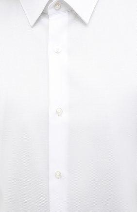 Мужская хлопковая сорочка BOSS белого цвета, арт. 50433275   Фото 5