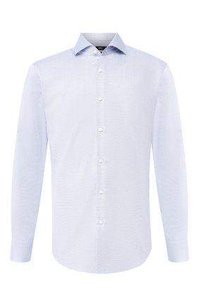 Мужская хлопковая сорочка BOSS синего цвета, арт. 50433343 | Фото 1