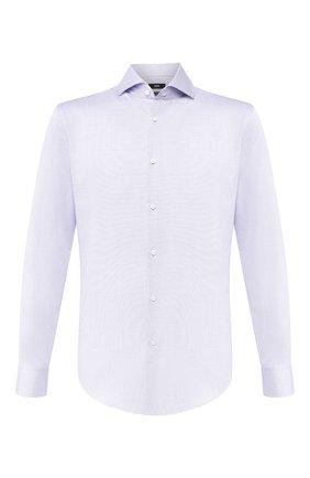 Мужская хлопковая сорочка BOSS голубого цвета, арт. 50433343 | Фото 1
