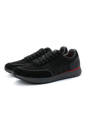 Мужские комбинированные кроссовки SWIMS черного цвета, арт. 21317 | Фото 1