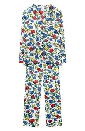 Детская шелковая пижама LITTLE YOLKE разноцветного цвета, арт. SS20-12S-DV-M/5-12Y | Фото 1