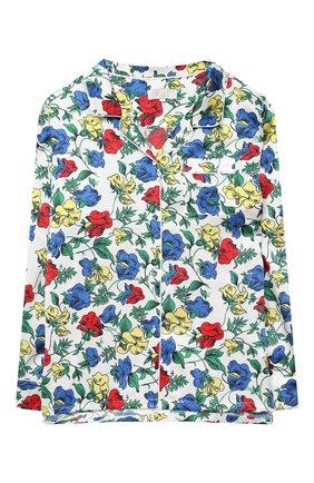 Детская шелковая пижама LITTLE YOLKE разноцветного цвета, арт. SS20-12S-DV-M/5-12Y | Фото 2