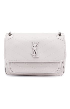 Женская сумка niki medium SAINT LAURENT светло-серого цвета, арт. 498894/1EL06 | Фото 1