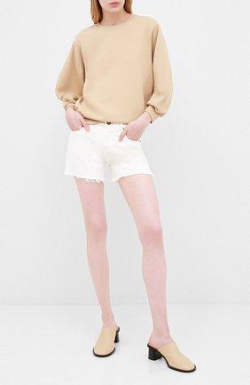 Женские джинсовые шорты CITIZENS OF HUMANITY белого цвета, арт. 996-1185 | Фото 2