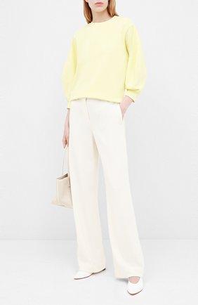 Женская хлопковый свитшот AGOLDE желтого цвета, арт. A7053   Фото 2