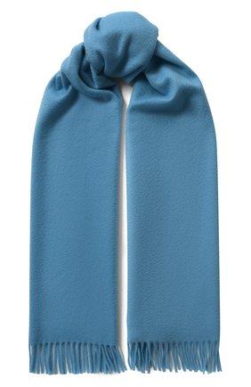 Женский кашемировый шарф grande unita LORO PIANA синего цвета, арт. FAA1056 | Фото 1 (Материал: Кашемир, Шерсть)