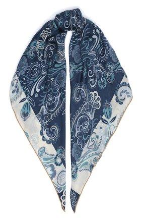 Женский платок из кашемира и шелка LORO PIANA синего цвета, арт. FAL3543 | Фото 1