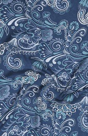 Женский платок из кашемира и шелка LORO PIANA синего цвета, арт. FAL3543 | Фото 2
