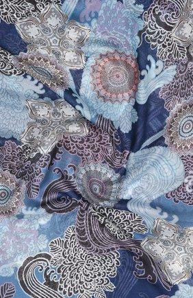 Мужские шарф из кашемира и шелка LORO PIANA синего цвета, арт. FAL2418   Фото 2