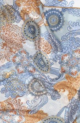 Мужские шарф из кашемира и шелка LORO PIANA голубого цвета, арт. FAL2418   Фото 2