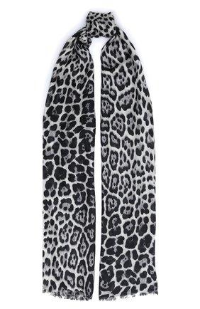Мужские шелковый шарф с леопардовым принтом SAINT LAURENT леопардового цвета, арт. 504478/3Y009   Фото 1