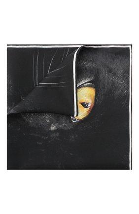 Женский шелковый платок square BURBERRY черного цвета, арт. 8029397 | Фото 1