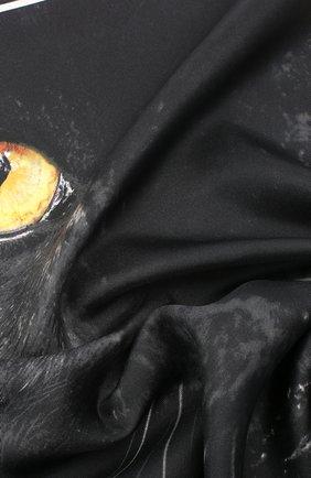 Женский шелковый платок square BURBERRY черного цвета, арт. 8029397 | Фото 2