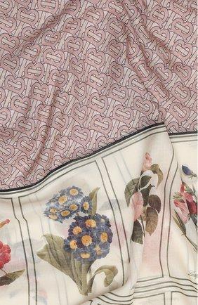 Мужские шарф oblong из шелка и шерсти BURBERRY розового цвета, арт. 8027573 | Фото 2