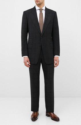 Мужской шерстяной костюм TOM FORD черного цвета, арт. 0R6405/21AL43 | Фото 1
