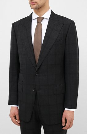Мужской шерстяной костюм TOM FORD черного цвета, арт. 0R6405/21AL43 | Фото 2