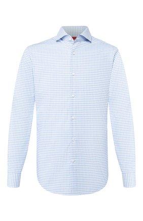 Мужская хлопковая сорочка HUGO голубого цвета, арт. 50431336 | Фото 1