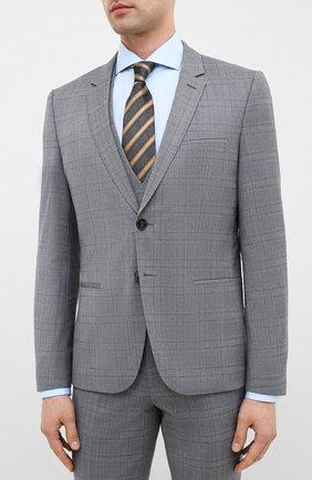 Мужской шерстяной костюм-тройка HUGO серого цвета, арт. 50432343 | Фото 2