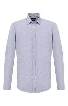 Мужская хлопковая сорочка BOSS синего цвета, арт. 50433258 | Фото 1