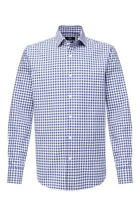 Мужская хлопковая сорочка BOSS синего цвета, арт. 50433342 | Фото 1