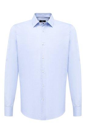 Мужская хлопковая сорочка BOSS голубого цвета, арт. 50432491 | Фото 1