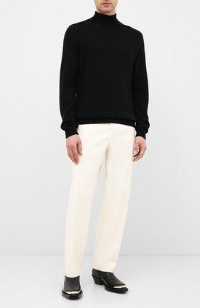 Мужской шерстяной свитер BOTTEGA VENETA черного цвета, арт. 628353/VKXJ0 | Фото 2