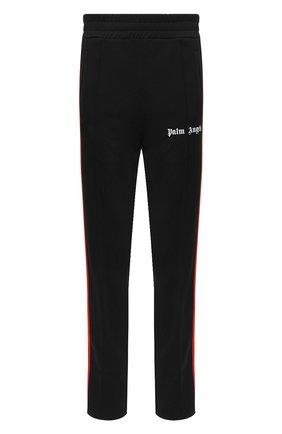 Мужской брюки PALM ANGELS черного цвета, арт. PMCA007E20FAB0021084 | Фото 1