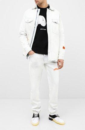 Мужской хлопковый свитшот PALM ANGELS черного цвета, арт. PMBA026E20FLE0021001 | Фото 2