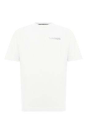 Мужская хлопковая футболка PALM ANGELS белого цвета, арт. PMAA001E20JER0094478 | Фото 1