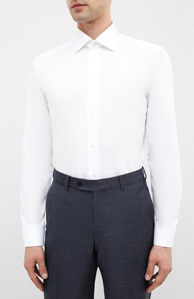 Мужская хлопковая сорочка ETON белого цвета, арт. 1000 01862 | Фото 3