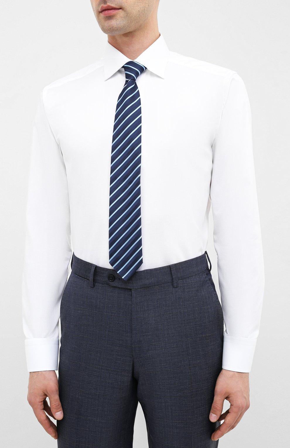 Мужская хлопковая сорочка ETON белого цвета, арт. 1000 01862 | Фото 4