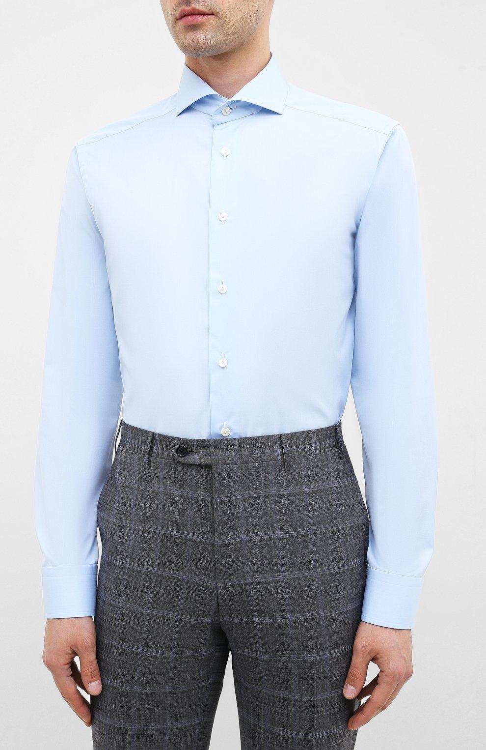 Мужская хлопковая сорочка ETON голубого цвета, арт. 2567 73511 | Фото 3