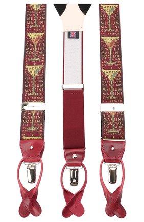 Мужские шелковые подтяжки ALBERT THURSTON бордового цвета, арт. 55R/2181 | Фото 2