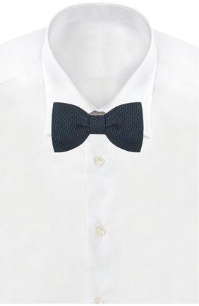 Мужской шелковый галстук-бабочка LANVIN темно-синего цвета, арт. 1208/B0W TIE | Фото 2