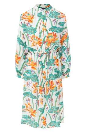 Женское шелковое платье loewe x paula's ibiza LOEWE разноцветного цвета, арт. S616335X10 | Фото 1