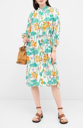Женское шелковое платье loewe x paula's ibiza LOEWE разноцветного цвета, арт. S616335X10 | Фото 2