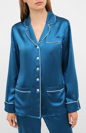 Женская шелковая пижама OLIVIA VON HALLE синего цвета, арт. PS2016 | Фото 2