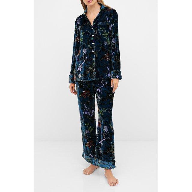 Пижама из вискозы и шелка Olivia Von Halle