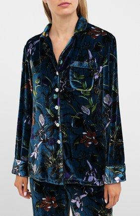 Женская пижама из вискозы и шелка OLIVIA VON HALLE синего цвета, арт. PS2004 | Фото 2