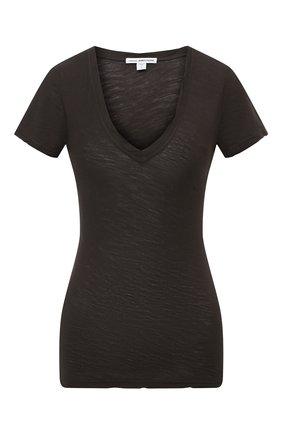 Женская хлопковая футболка JAMES PERSE темно-серого цвета, арт. WUA3695 | Фото 1