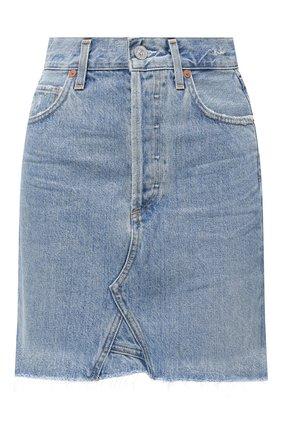 Женская джинсовая юбка CITIZENS OF HUMANITY голубого цвета, арт. 3142-837 | Фото 1